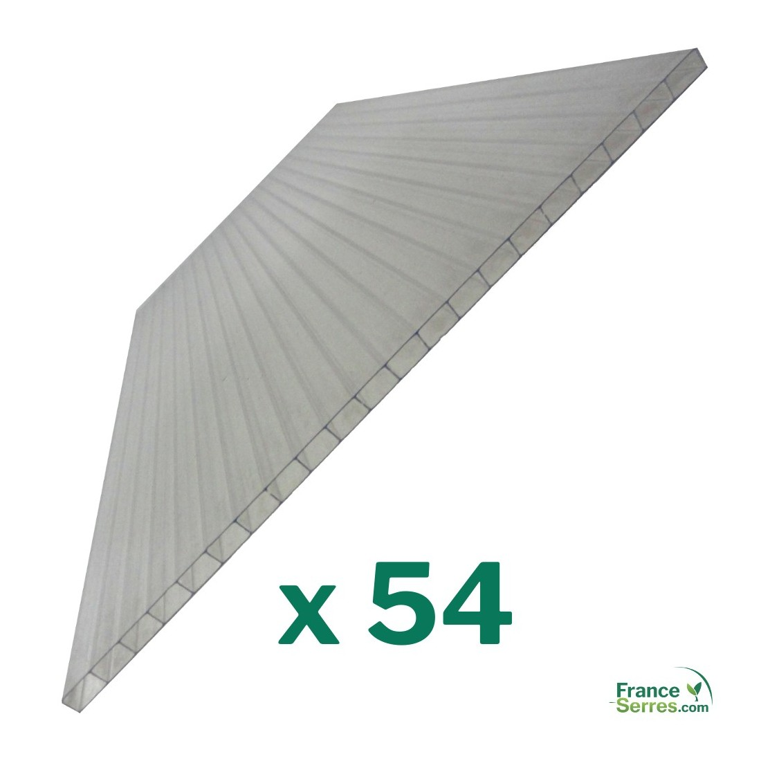 54 plaques de remplacement en polycarbonate alveolaire 4mm