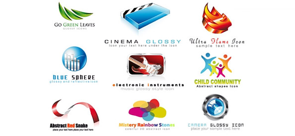 2D and 3D Logo Designs