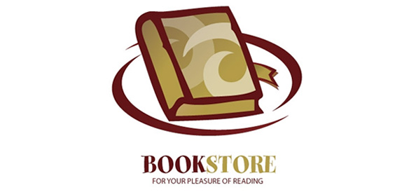 Book Logo Vector Design Template for Online Stores and Libraries