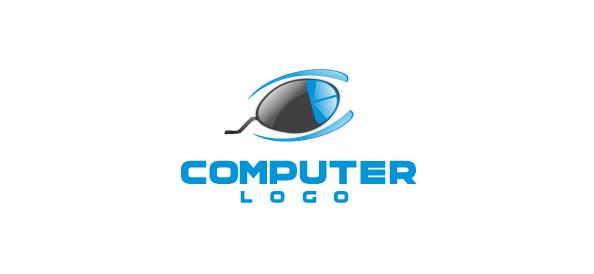 Computer Company Logo Vector Template