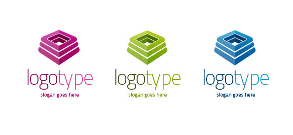 3D Logo Vector Template Set