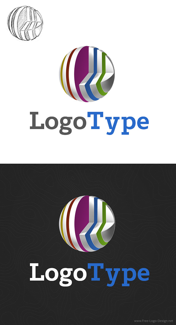 3D Logo Design Template Preview