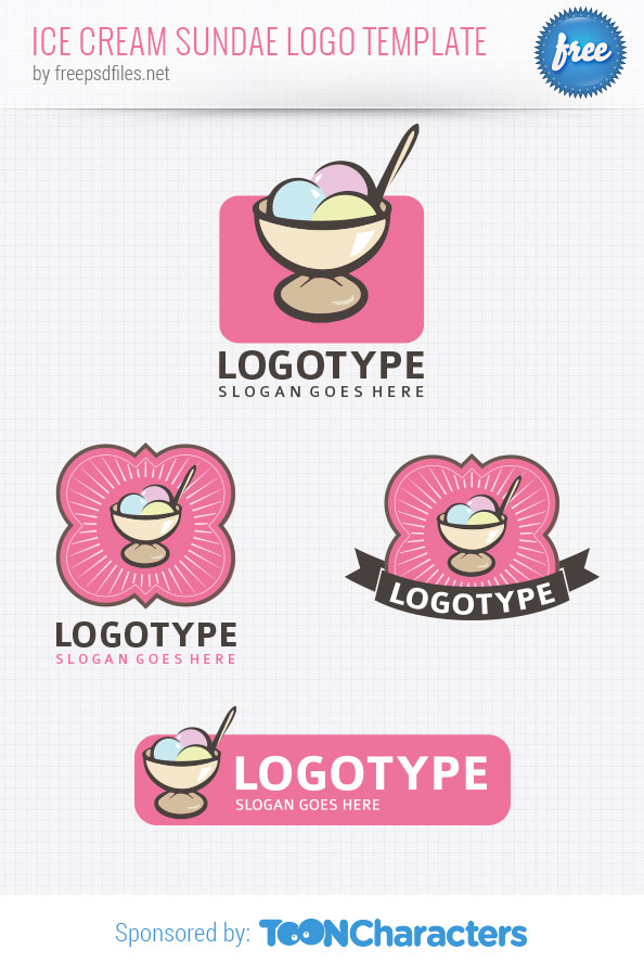 Ice Cream Sundae Logo Template
