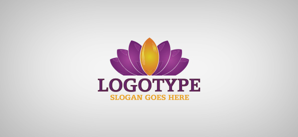 Free logos business logos arts logos beauty logos communication water lily logo template cheaphphosting