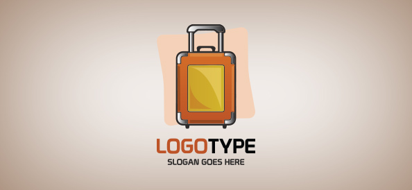 Suitcase Logo Template