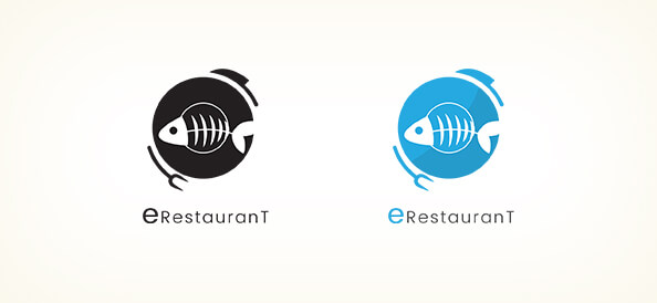 Free Fish Restaurant Logo