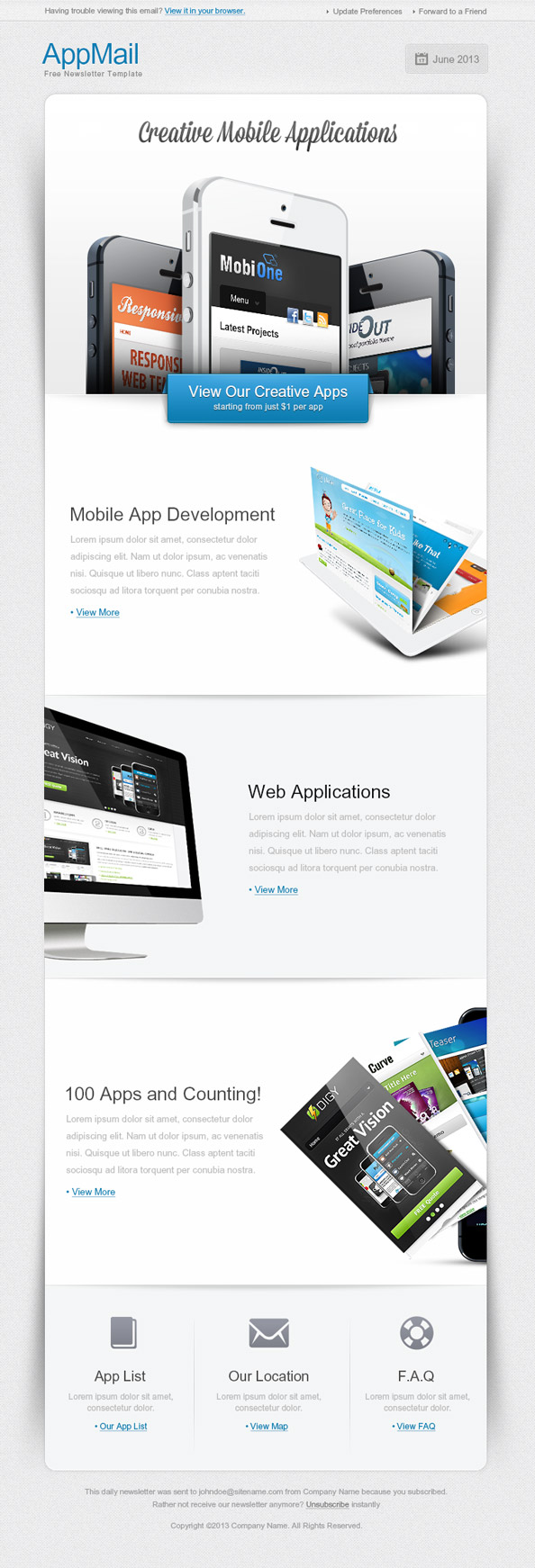 High Tech Email Template Preview
