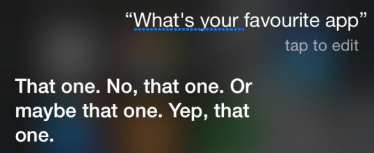 Siri's favorite app
