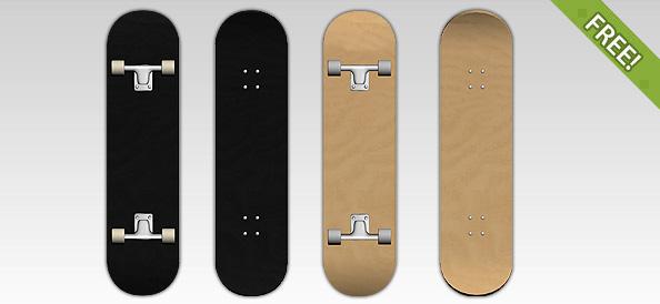 4 Free Skateboard Templates