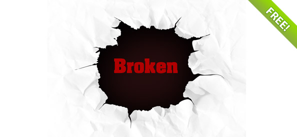 Free PSD Broken Page