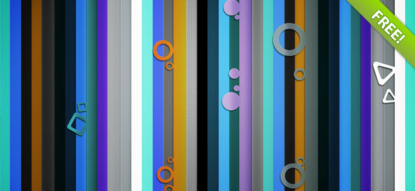 Website Background with Geometric Figures