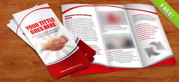 tri fold brochure psd template free psd files