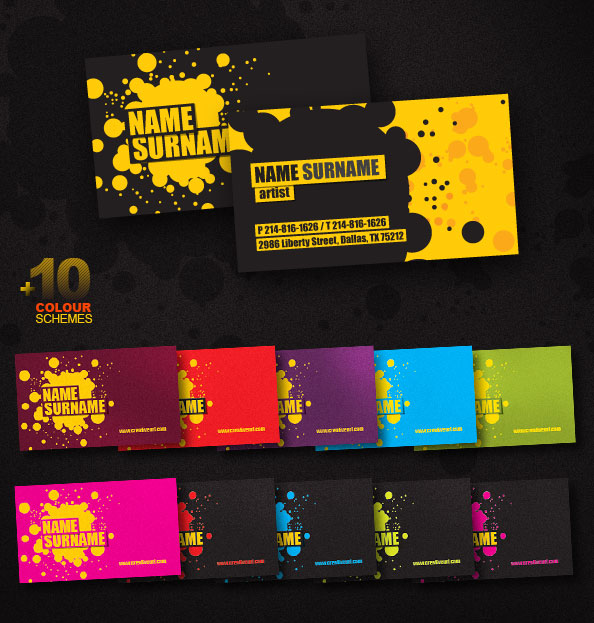 Creative business card psd template free psd files creative business card psd template designed in 11 color schemes weve included both front and back sides of our business card download for free accmission Images