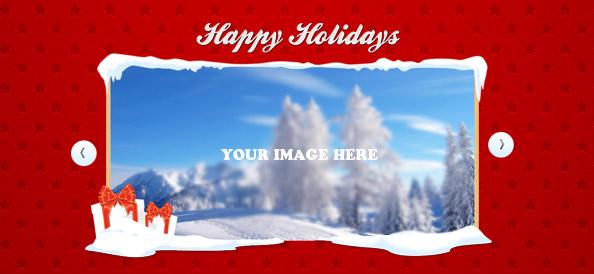 Christmas Slider PSD Template