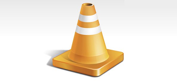 PSD Orange Traffic Cone