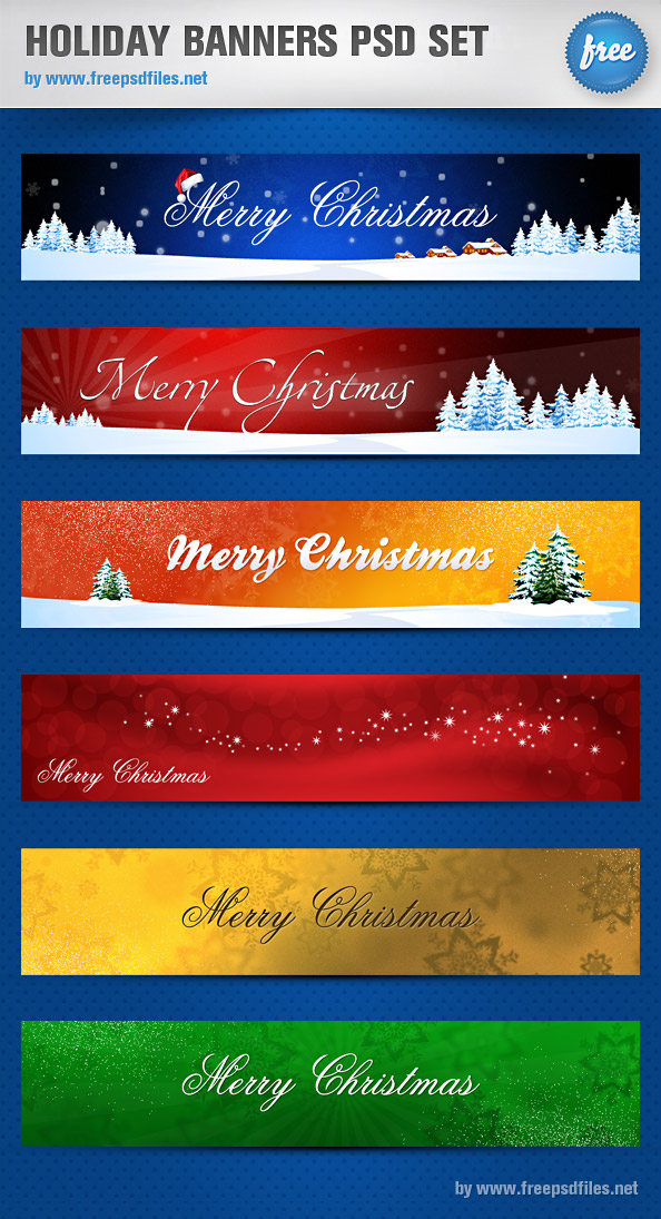 Holiday Banners PSD Set Preview