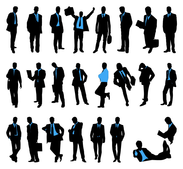 Businessman Silhouettes Set Preview