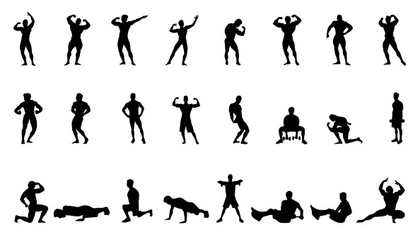 Fitness Silhouettes Set 1 Preview