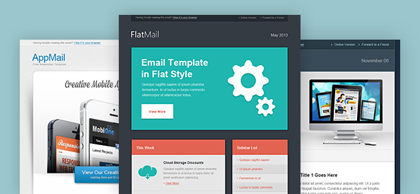 Email Template PSD Set 3