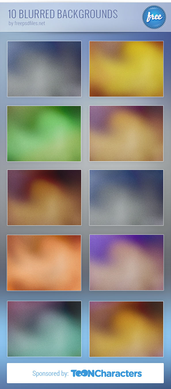 10 Free Blurred Backgrounds Preview