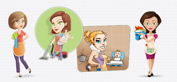 Vector Housewives Set