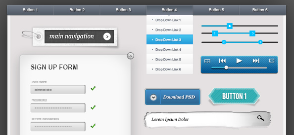 20 Best Free PSD UI Templates - Free PSD Files
