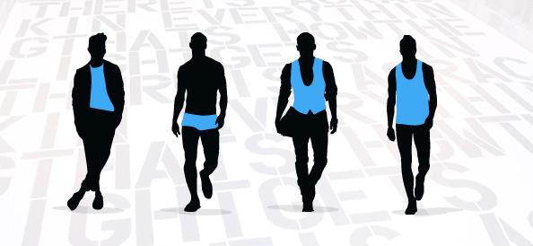 Fashion Men Silhouettes Set 2