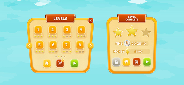 Free PSD Mobile Game GUI