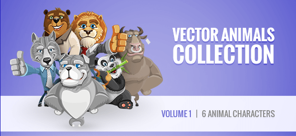 Free Vector Animal Characters Collection: Vol. 1