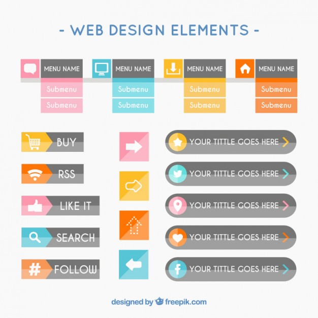 web-design-elements-in-flat-style