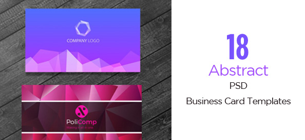 18 Abstract & Free PSD Business Card Templates