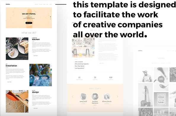 clemo website template