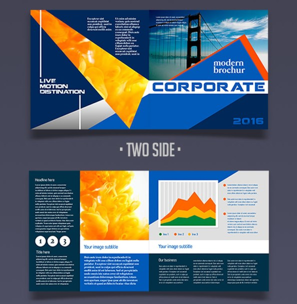 corporate brochure half-fold free psd