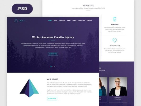 psd-website-template