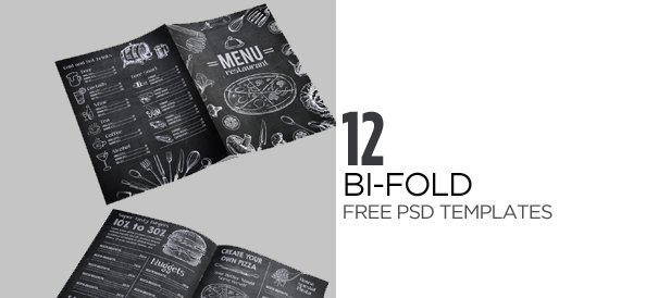 12 Attention Grabbing Bi-Fold Brochure Free PSD Templates