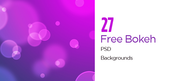 27 Colorful Free PSD Bokeh Backgrounds