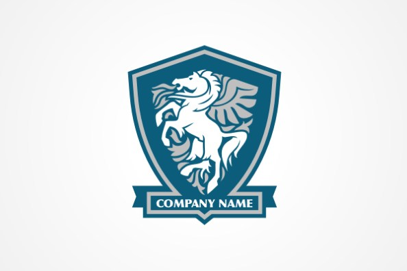 23 extra creative free psd animal logo templates horse in shield free logo template psd design maxwellsz