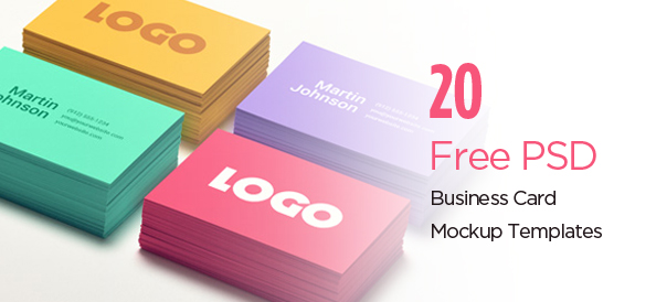 20 Free PSD Business Card Mockup Templates
