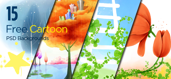 15 Free PSD Cartoon Backgrounds in Different Art Styles