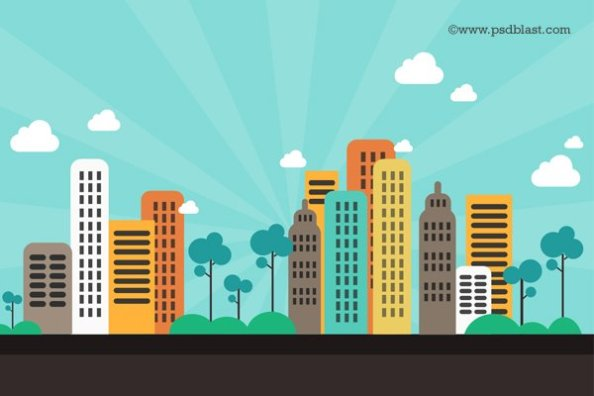 flat-color-abstract-city-background-psd-56609