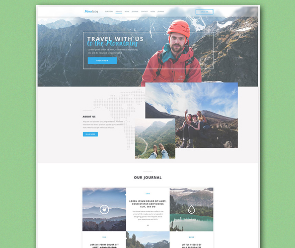Free Travel Landing Page PSD Template