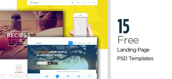 15 Free PSD Landing Page Templates for a Lasting Impression