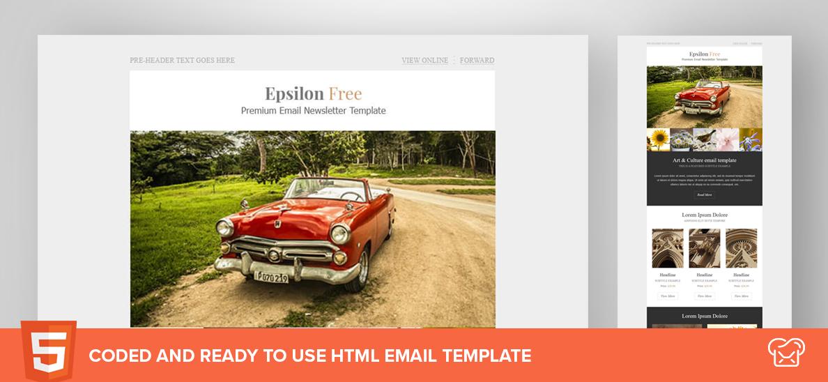 Mailbakery Epsilon – Free HTML Email Template