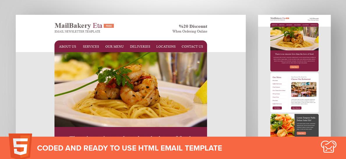 Mailbakery Eta – Free HTML Email Template