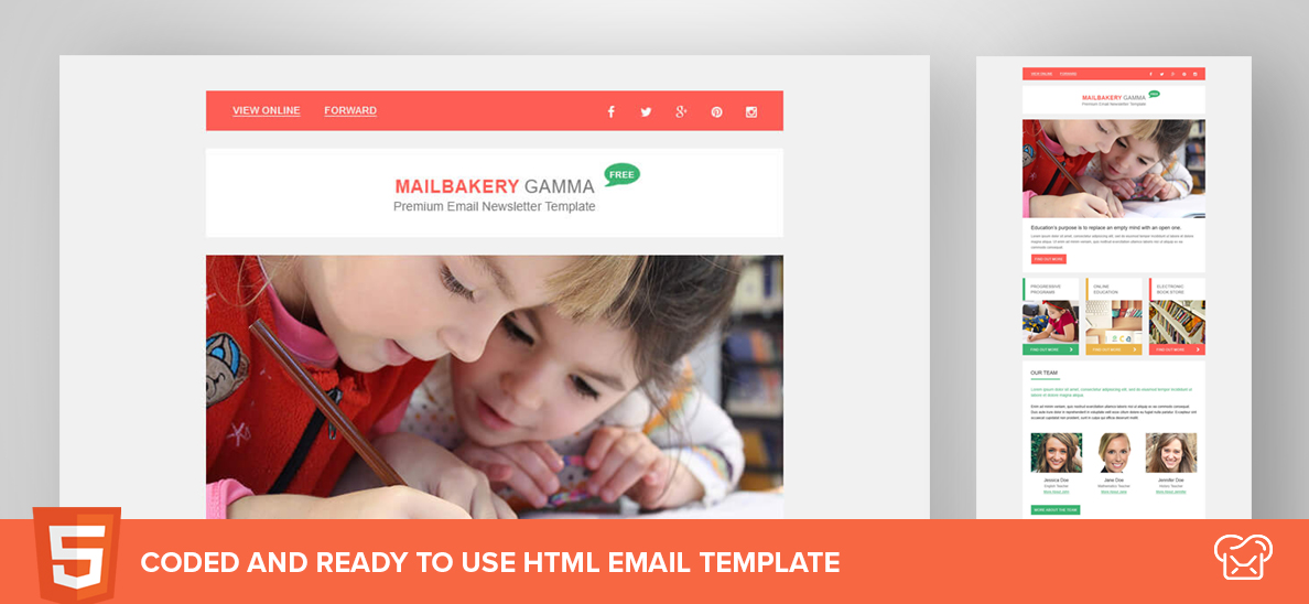 Mailbakery Gamma – Free HTML Email Template