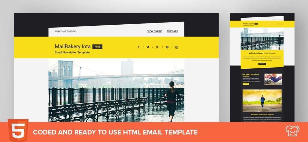 Mailbakery Iota – Free HTML Email Template