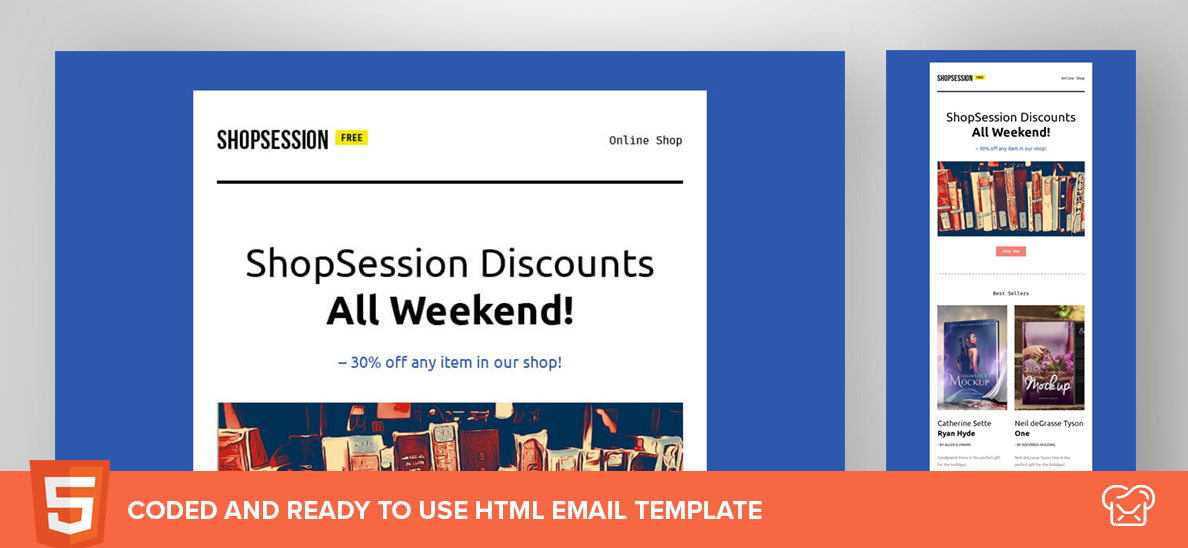 ShopSession – Free HTML Email Template