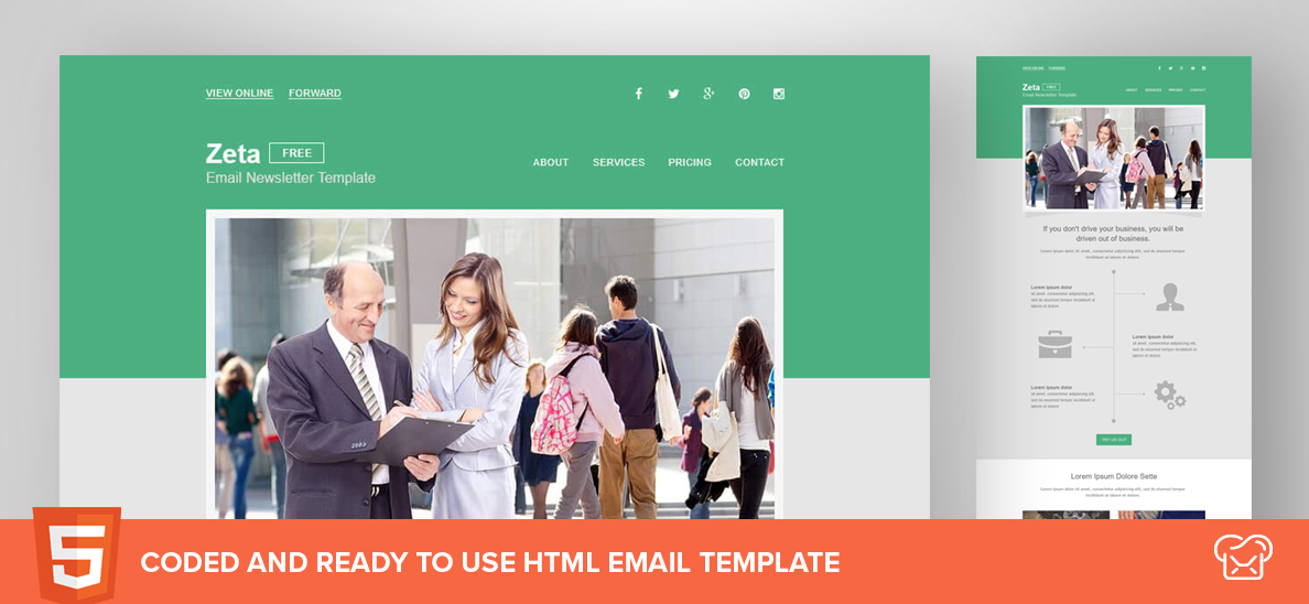 MailBakery Zeta – Free HTML Email Template