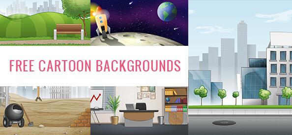 Free Cartoon Backgrounds Set
