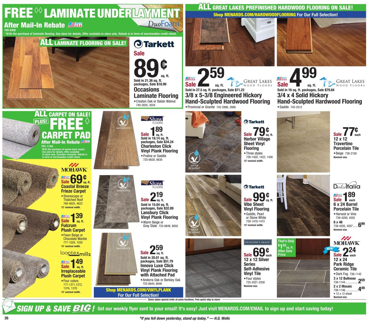 menards current weekly ad 05 05 05 11